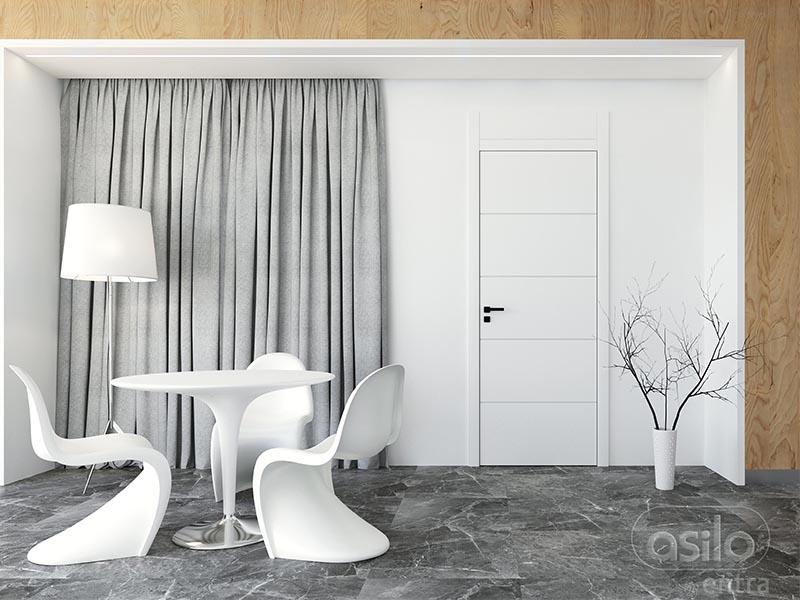 drzwi asilo moderno śnieżna biel
